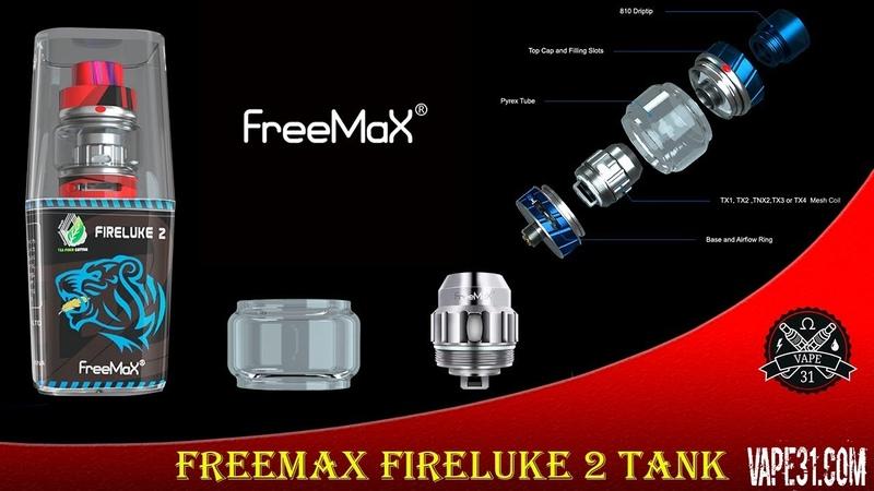 FREEMAX FIRELUKE 2 TANK METAL EDITION   Sub-Ohm Tank   Vape Tanks