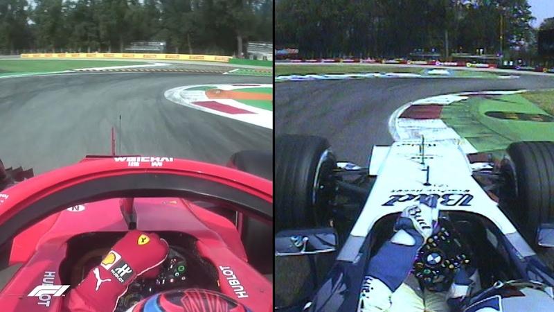 F1's Fastest Laps Raikkonen and Montoya at Monza Compared