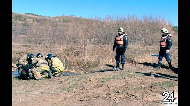 Не допустили затопления Тихоновки в Альметьевском районе прошли учения