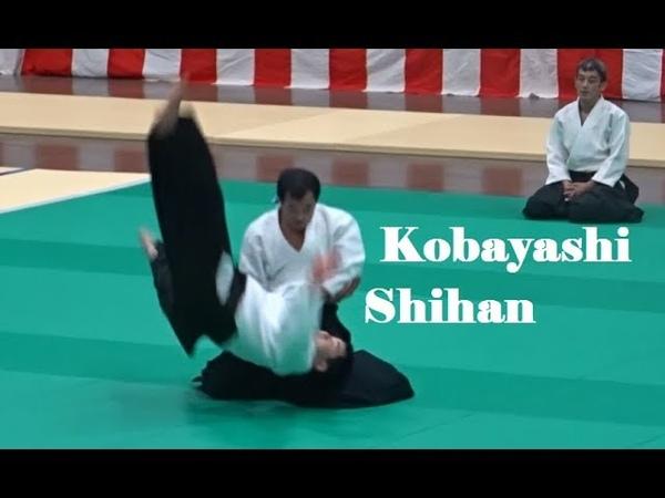 Yukimitsu Kobayashi Shihan at the Tokyo Metropolitan Aikido Federation Demonstration 2018