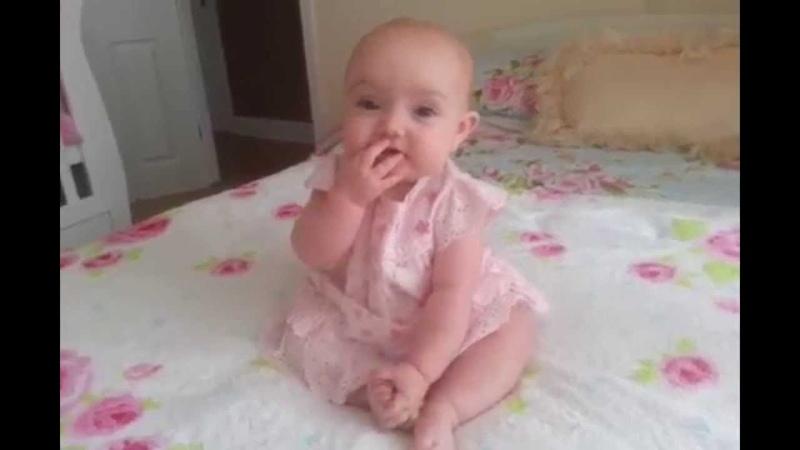 Ellies 28th week of life Blowing Rasberries