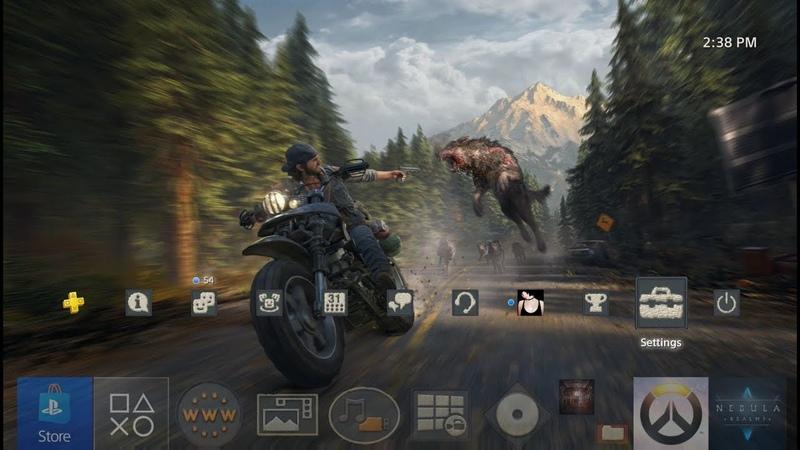 Динамическая тема Days Gone на PS4