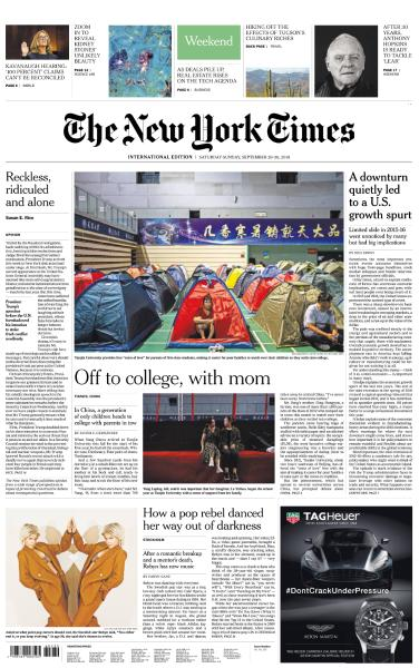International New York Times - 27 September 2018