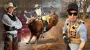 First Time Bull Riding In Life ENG Subs RUS Субтитры Bucket List Fire AK47 Glock F A