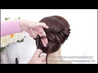 Bridal prom updo tutorial. bun hairstyles for long hair