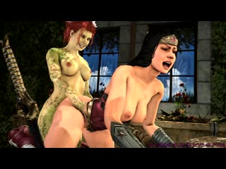 Poison Ivy Futa  -music included - 60 fps (DC sex)