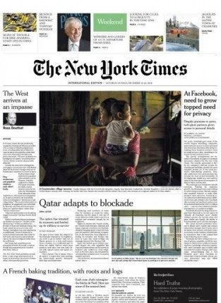 International New York Times - 22 December 2018
