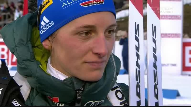 Ванесса Хинц после спринта
