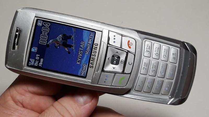 Samsung GT E250 silver оригинальный ретро телефон