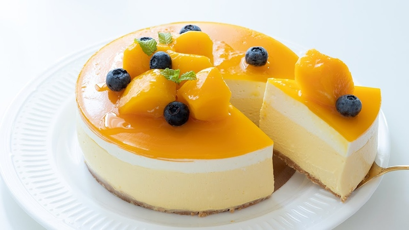 No Bake Mango Cheesecake*Eggless Without Oven マンゴーレアチーズケーキの作り方 |HidaMari Cooking