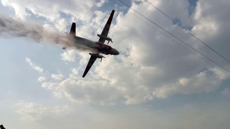 18.08.2017 Гасіння пожежі літаком АН-32П на складах із вторинною сировиною