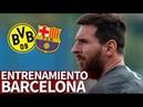 B. Dortmund-Barcelona | Messi entrena con el grupo antes de viajar a Dortmund | Diario AS