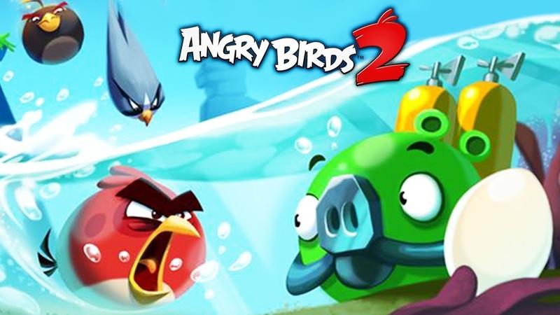 ЗЛЫЕ ПТИЧКИ ЭНГРИ БЕРДС против МОРСКИХ СВИНЕЙ в мульт игре Angry Birds 2