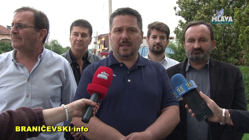 Obilazak radova na rekonstrukciji i izgradnji trotoara u Petrovcu na Mlavi (RTV MLAVA 27.05.2019.)