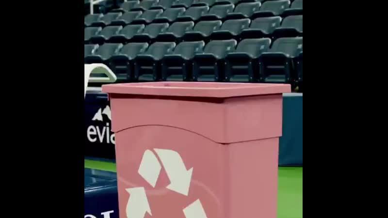 Теннисистки Мария Шарапова и Мэдисон Киз за переработку пластика!