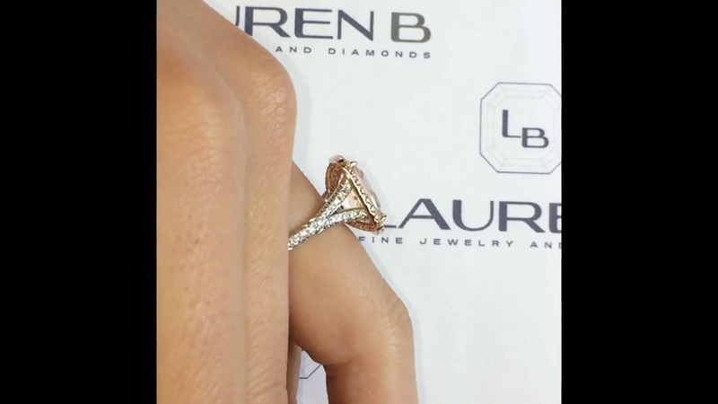 4.28 ct Morganite Halo Engagement Ring