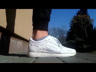 Asics gel lyte iii triple white pure on feet hd