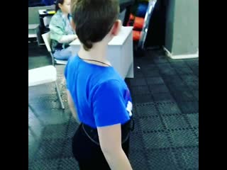 Веселов Андрей, 8 лет. Становая тяга 40 кг.