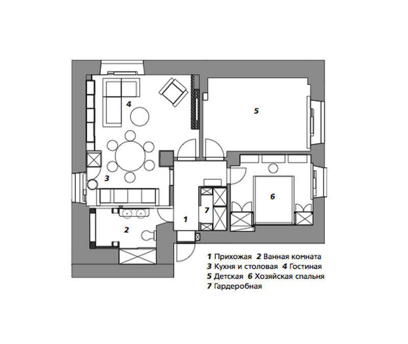 Квартира ввосточном стиле вМоскве, 53м²