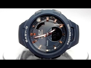 Casio G-SQUAD Baby-G BSA-B100-2A Bluetooth Step tracker watch 2018