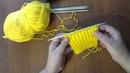 2 способа для вязания резинки 1 х 1 видео урок 2