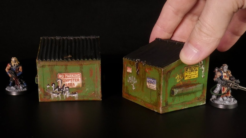 Making Miniature DUMPSTERS for Tabletop Games like Necromunda Gaslands or The Walking Dead