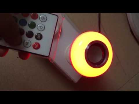 Wireless RGB color changing led bluetooth music bulb with speaker by remote control