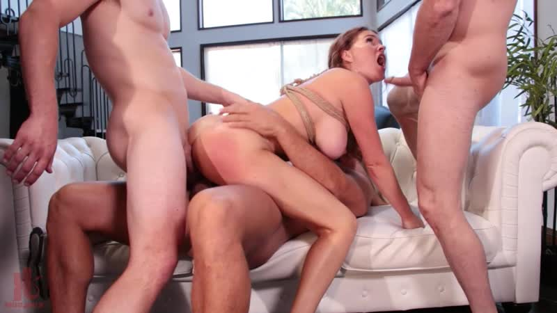 Krissy Lynn - Horny At Home Gets Tied Up And Gangbang[MILF, DP, ANAL, 2018, 720p]