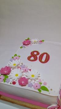 Поздравления бабушке 80 лет на торте