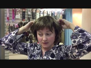 Как крепить накладку для волос. Подробное видео