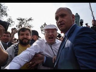 Жириновский Владимир Вольфович подрался на митинге в Москве!