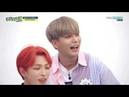 Weekly Idol ep. 412 ATEEZ Jongho breaking apples and watermelon