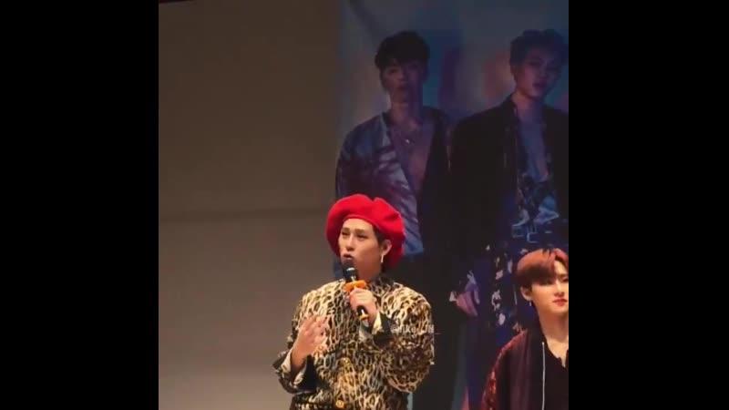 VK 191109 MONSTA X fancam Jooheon I M focus @ Gangnam fansign