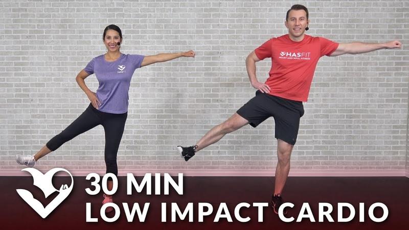 HASfit Low Impact Total Body Cardio Workout for Beginners Интервальная кардио тренировка с гантелями для новичков