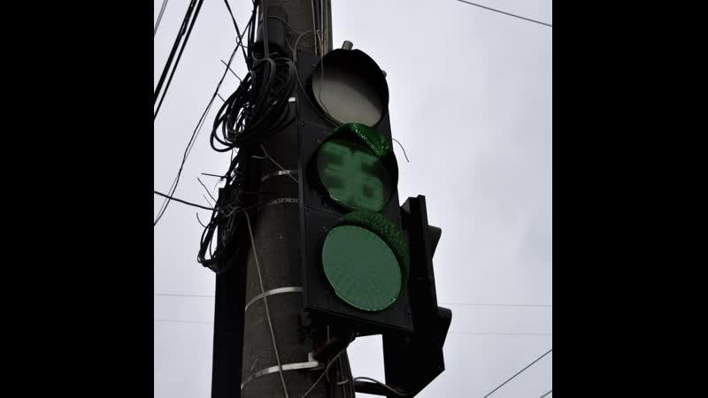 Светофор на проспекте Победы оборудуют левыми стрелками