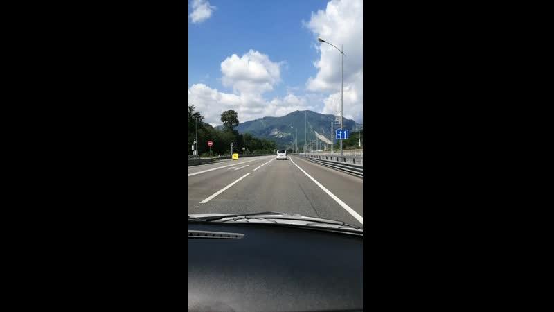Дорога в горы, в Красную Поляну