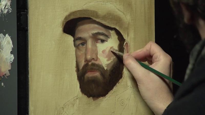 Gregory Mortenson Realistic Self Portraits Speedpaint