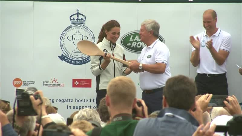 Duchess of Cambridge Laughs as She Wins Wooden Spoon at Regatta Race