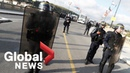 G7 protests: Security forces respond to unrest in Bayonne