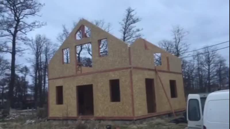 Канадские дома. пос.Малиновка. Строительство сип дома. Часть 6