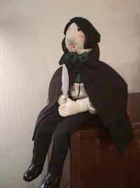 Гоголь. Коллекционная кукла.  Только под заказ! (Высота 43 см)