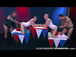 Clubinfernodungeon extreme self fisting  group fist fuck foursome