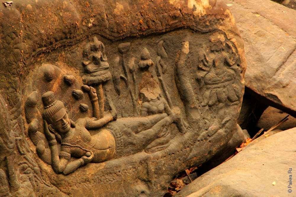 Кхмерское искусство — Вишну отдыхает