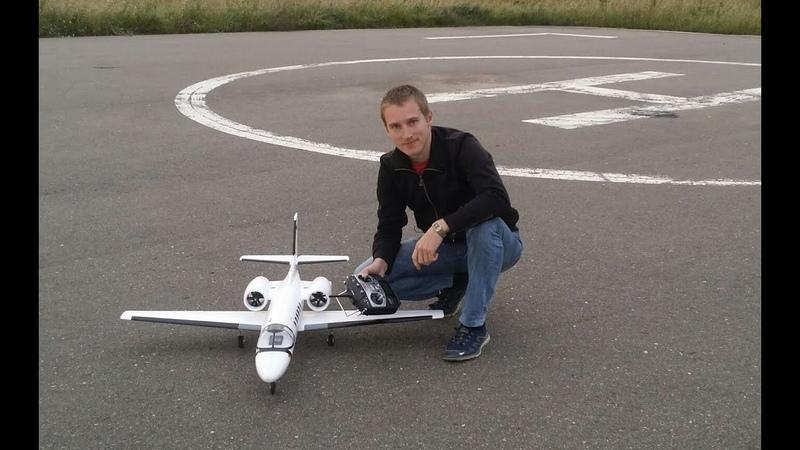 Радиоуправляемый импеллерный самолет Dynam Cessna 550 Turbojet Сборка