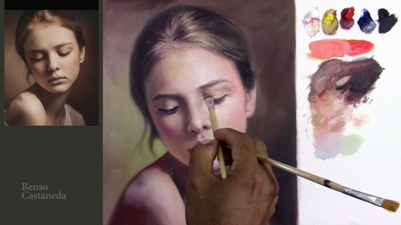 Retrato al oleo - veladuras