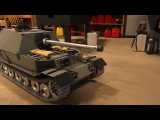GIANT TANK DESTROYER- FIRST DRIVE! FERDINAND ELEFANT ARMORTEK All Metal 1-6 Scale - RC ADVENTURES RC models