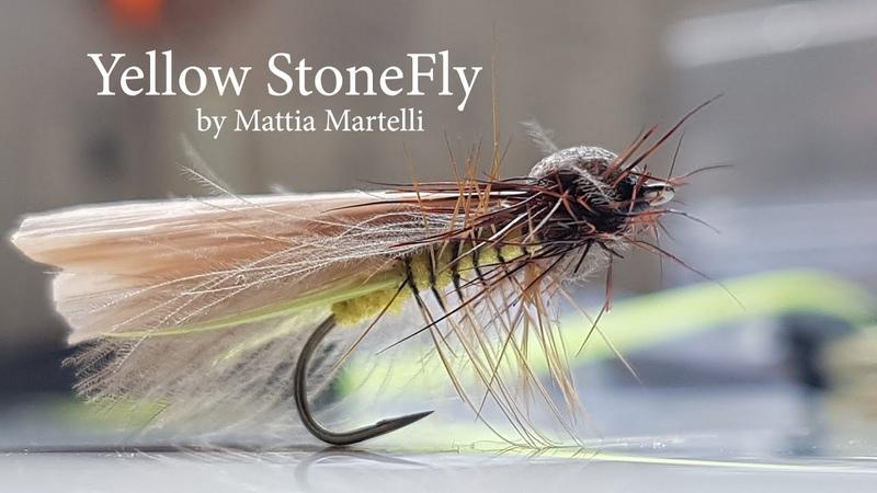 Come costruire Yellow Stonefly adulto di mosca della pietra per trote selvatiche selettive semplice
