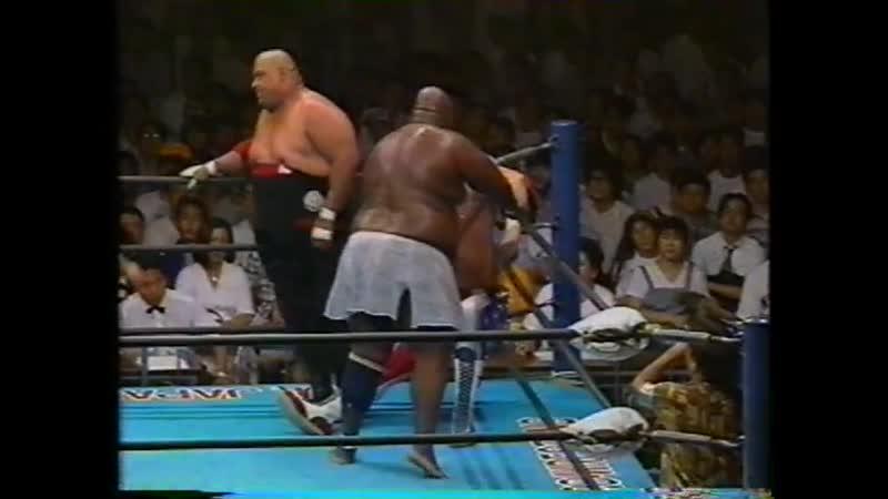 1992.07.31 - Kenta Kobashi/The Patriot vs. Abdullah The Butcher/Giant Kimala II [JIP]