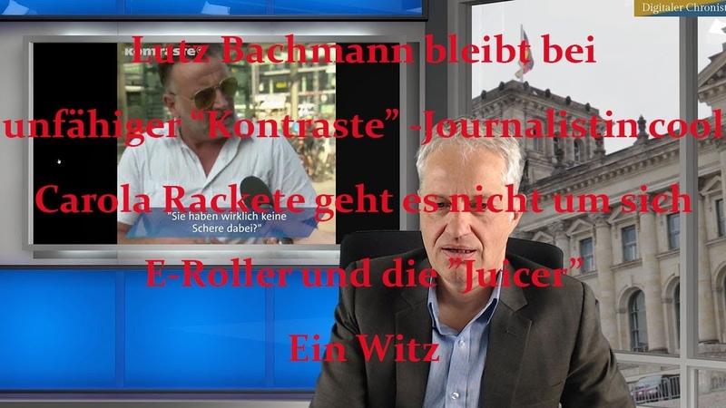 Bachmann bei Journalistin cool Carola Rackete geht es nicht um sich E Roller