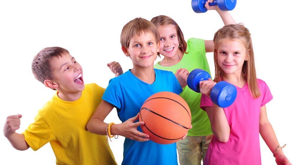 Картинки дети спорт на белом фоне